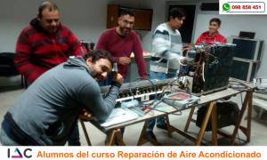 Alumnos del Curso de Reparación de Aire Acondicionado - IAC Las Piedras 2017